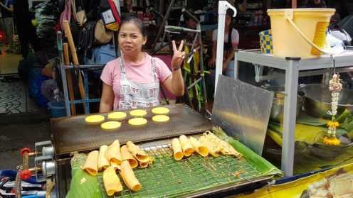 Mała firma, sprzedawca deserów, Chinatown, Bangkok