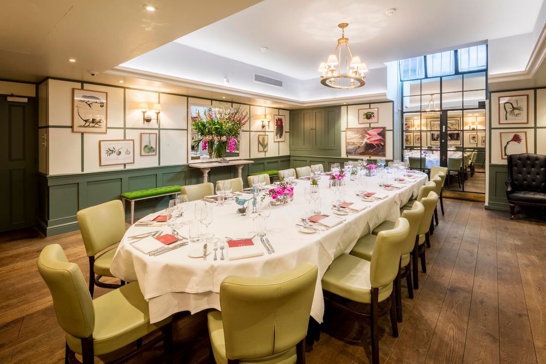 Private Dining In Lombard Street For 250 Seated Guests
