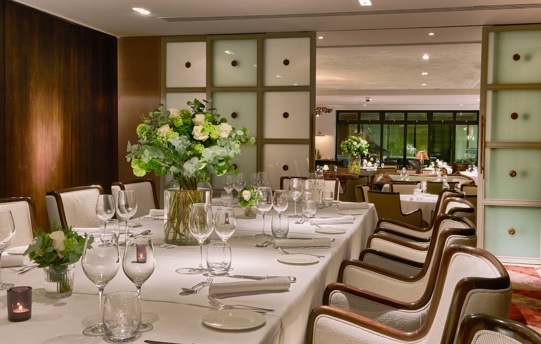 Luxury Private Dining Rooms at Sartoria Mayfair  London W1S 3PR