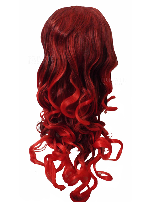 Long Red Auburn Ladies Wig, Glamour Vampire Halloween Fancy Dress Accessory hi