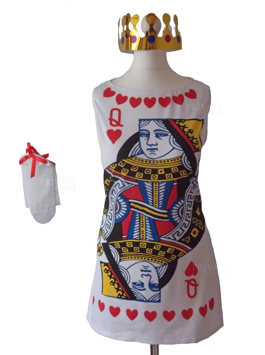 Queen Of Hearts Card Alice In Wonderland Style Fancy