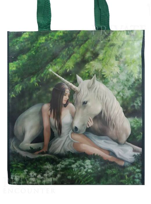 Anne Stokes Pure Heart Unicorn Fantasy Pagan Shopping Bag, Birthday Gift, Present