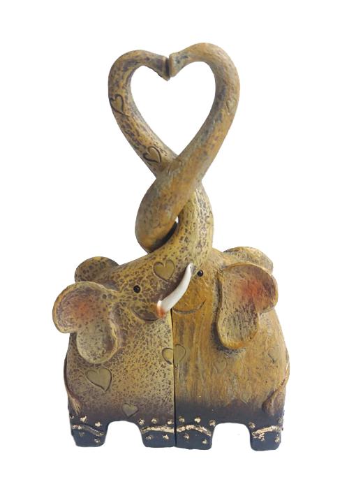 Romantic Heart Elephant Family Ornament, Wedding, Valentines, Gift