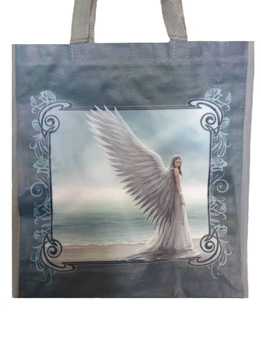 Anne Stokes Grey Spirit Guide Design Fantasy Pagan Shopping Bag, Birthday Gift, Present