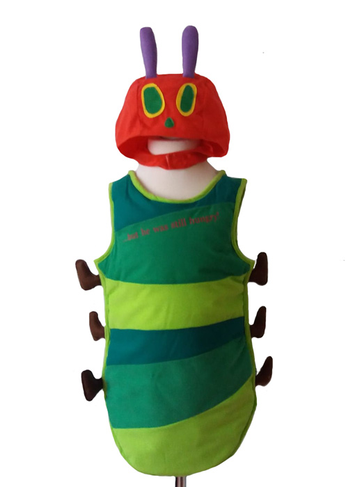 Unisex The Very Hungry Caterpillar Fancy Dress Costume, World Book Day, Age 3 – 5 years