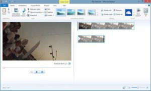 Video added to movie maker