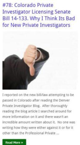 Colorado Private Investigator Licensing