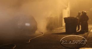 Claims Investigator Investigating Car Fire