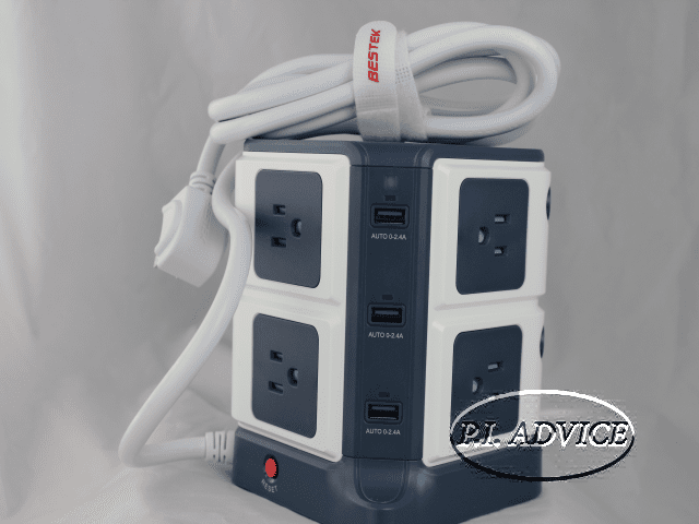 BESTEK 8 Outlet Power Strip With 6 USB Smart Ports