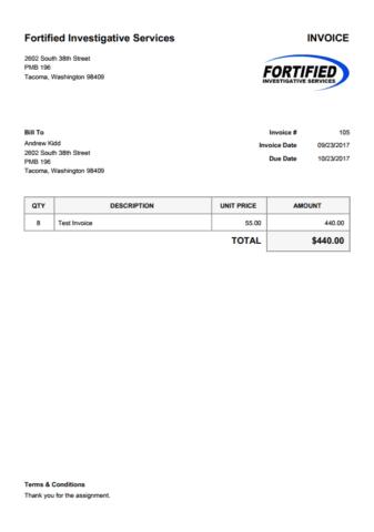 Invoice Home  Home Invoice