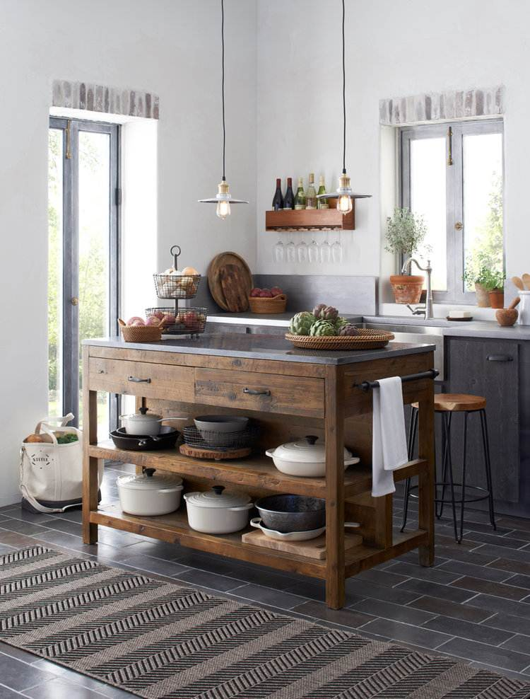 meuble de cuisine avec plan de travail intégré
