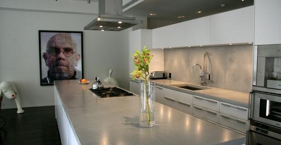 beton cire dans une cuisine cote