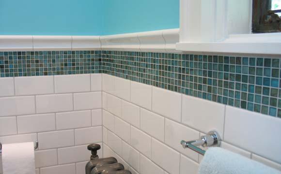 la pose d une mosaique de salle de bain