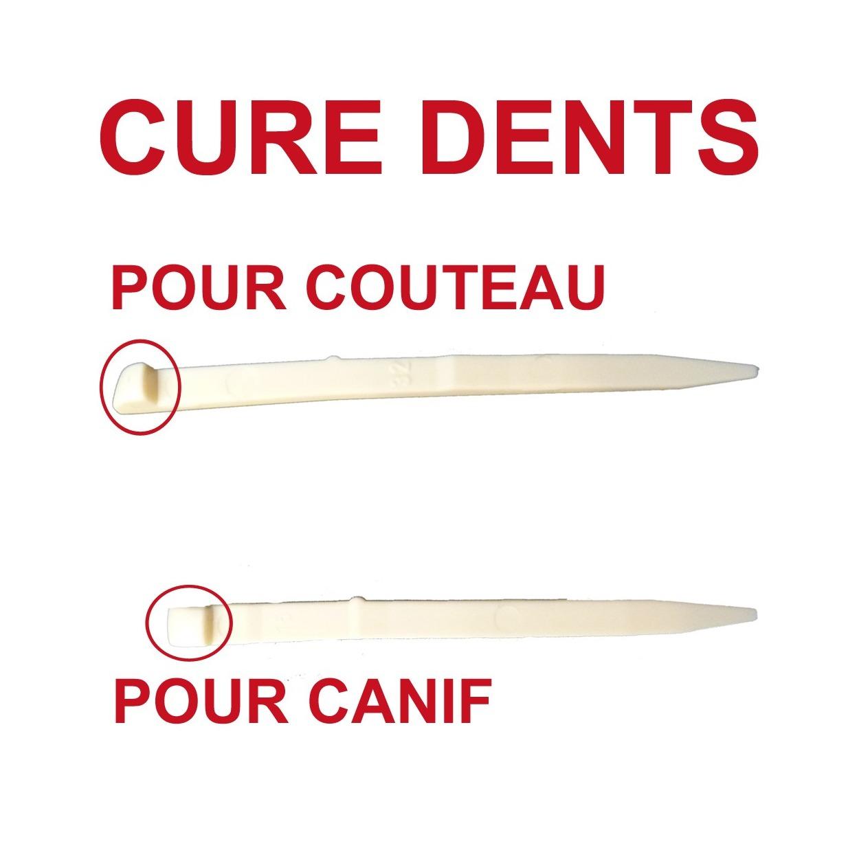 cure dents pour couteau suisse ou canif