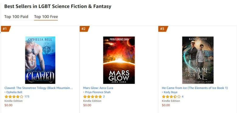 amazon best seller in lgbt science fiction and fantasy