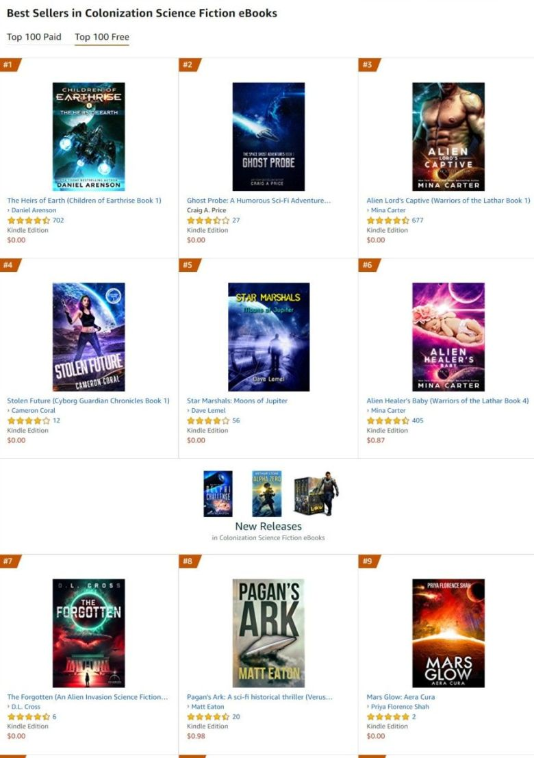 Science Fiction Best Seller Rankings