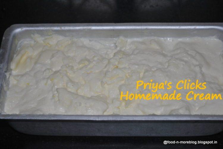Fresh-cream-at-home