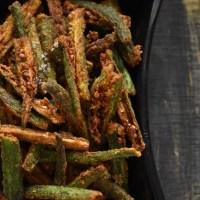 Kurkuri bhindi recipe | bhindi fry | crispy okra fry recipe