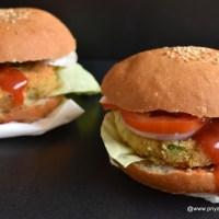 veggie burger recipe | how to make veg burger | vegetable burger recipe