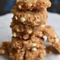 no bake peanut butter oats almond cookies | vegan, Gluten free