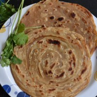 plain wheat lachha paratha recipe | how to make lachedar paratha recipe