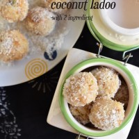3 ingredient coconut ladoo recipe | nariyal ladoo recipe ,coconut ladoo with condensed milk recipe