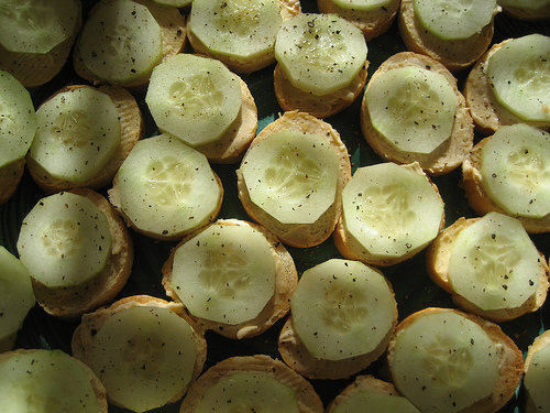 Cucumber – French Bread Hors D'oeuvres