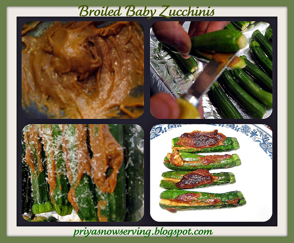 Broiled Fingerling Zucchini