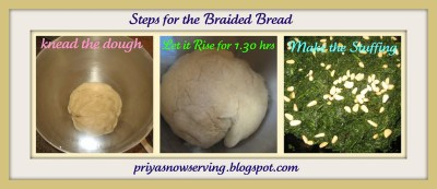 Steps for Braided Bread