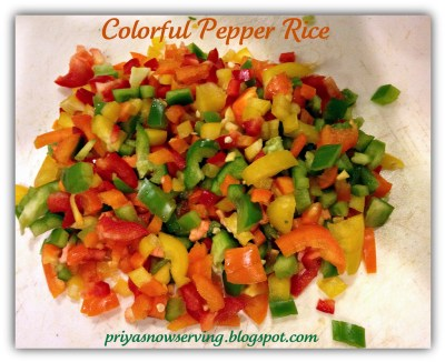 Colorful pepper rice