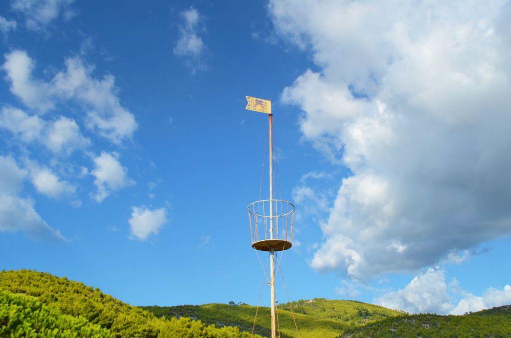 Ratak flag indicating the wind direction