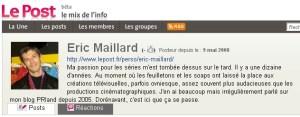 lepost.fr Eric Maillard Séries