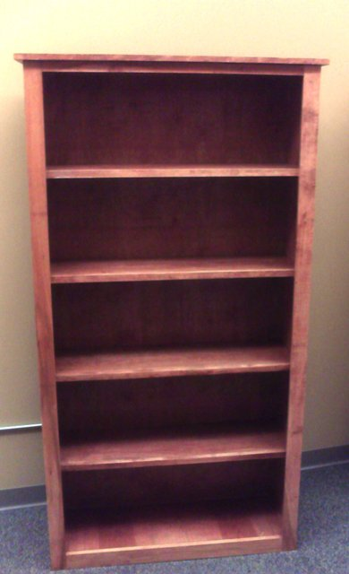 Elegant bookcase, simple construction using basic tools, available
