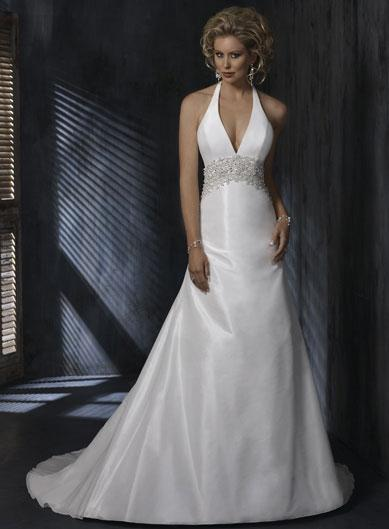Halter top Beaded Aline Silhouette Taffeta Wedding Gowns  zoombridalcom  PRLog