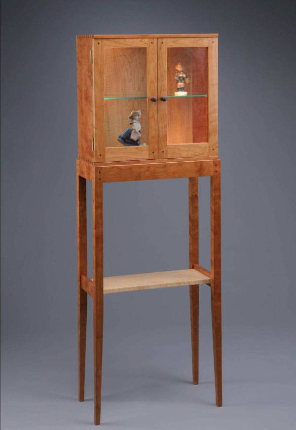 Fine Furniture Cherry Wood Display Cabinets