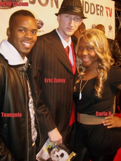 Teangelo and Carla B of EOTM TV and Eric Zuley