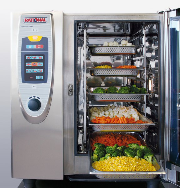 Catering equipment combi steamer Rational SelfCooking Center on stand K63 at LACA 2011  Kyli