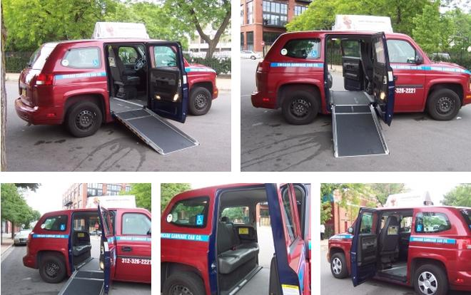 wheelchair cab yellow club chair chicago carriage co. adds new wheel accessible vehicles to taxi fleet. -- ...