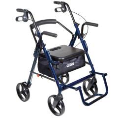 Walker Transport Chair In One Hugo Navigator Tufted Dining Set Wheelchair Combo Duet Rollator Egan Medical Nominated For Web S Top Equipment Huis Ideeen 2018 Ddalliancesa Amazon Com Combination