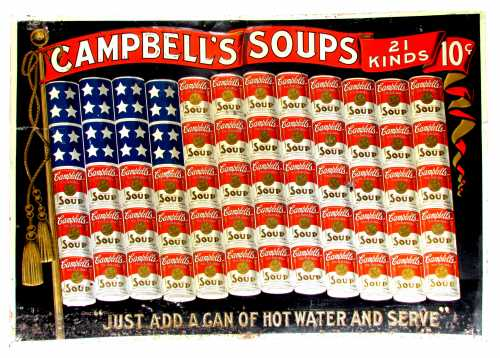 This Campbell's Soup tin sign, circa 1900, should realize $40,000-$60,000