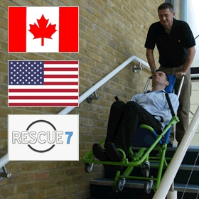 evac chair canada captain chairs for lund boats evacusafe announce new business partner north america evacuation usa