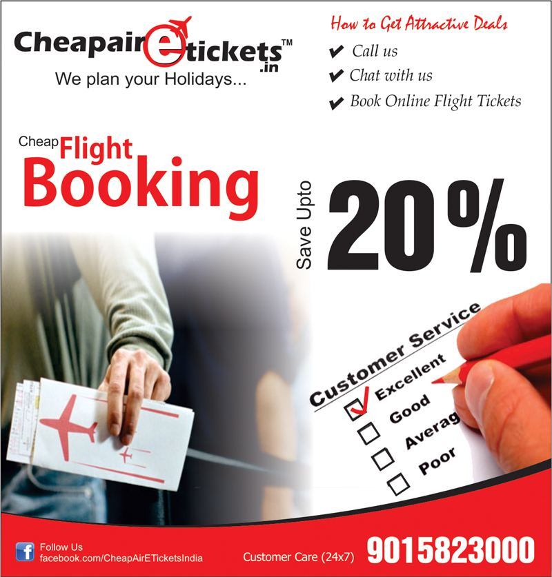 Book Cheap Flight Tickets from CheapAirETickets.in -- Cheap Air E Tickets | PRLog