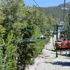 Summer High Chair Ruffled Covers Labor Day Is Last For Recreation At Las Vegas Ski & Snowboard Resort -- ...
