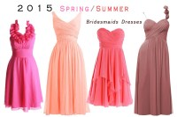 Bright Colors Bridesmaids Dresses For Spring Wedding From ...