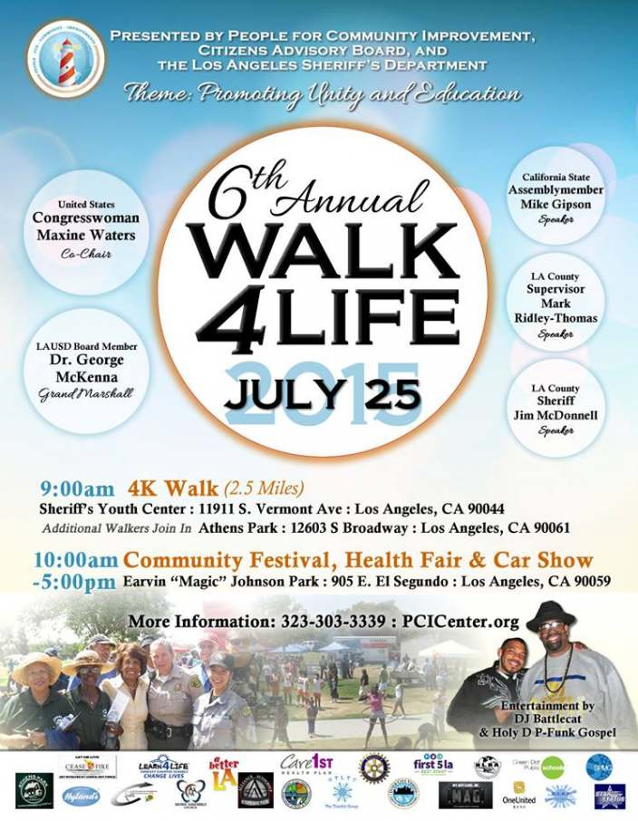 P.C.I.'s 6th Annual Walk for Life