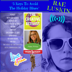 Beneficience.com PR STAR Client Rae Luskin On-Air Dec.22 with Popp KAHI Radio