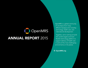 OpenMRS Annual Report 2015