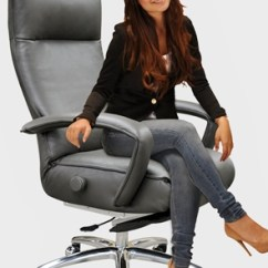Reclining Office Chair With Footrest India Cushion Memory Foam Newest Lafer Executive Recliners From Brazil Now In Usa At Accurato.com Furniture Store ...