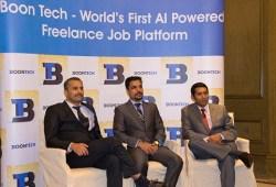 (L to R) Mr. Bobby Mathew, Mr. Rajesh Pavithran & Mr. Vinayak Vijayan