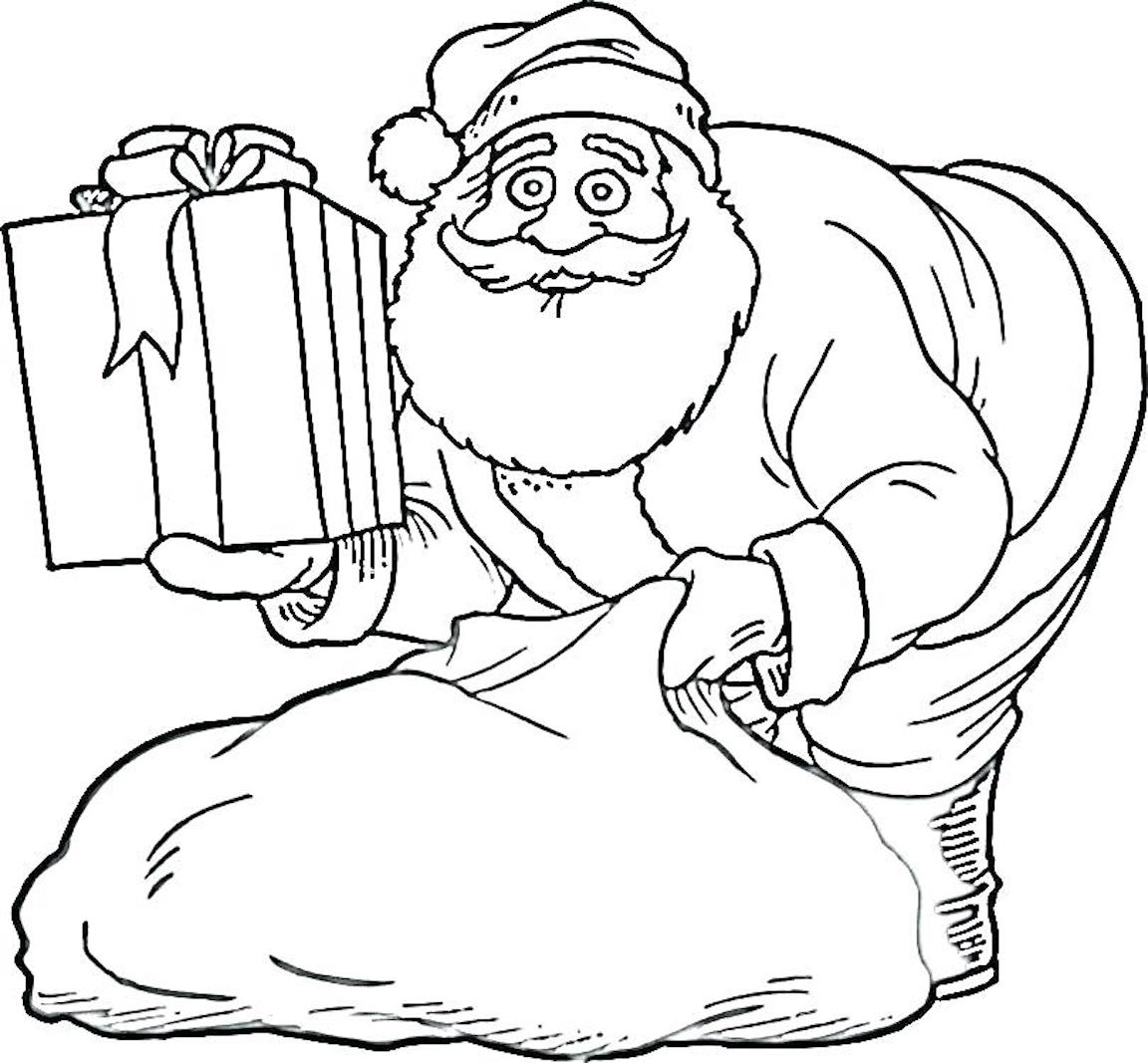 Santa Coloring Pages Christmas Symbols And Other Coloring